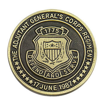 Military Department challenge coin with unique color detailing