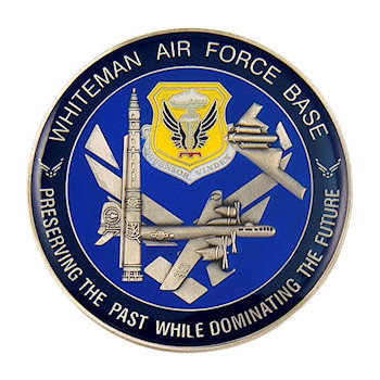 Whiteman Air Force Base Coin 3D