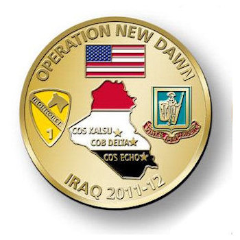 Operation New Dawn - Iraq 2011-12 Coin