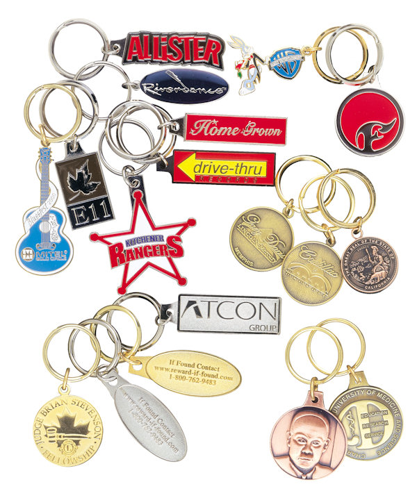 Custom Die Struck Key Tags and Key Chains