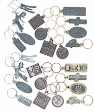 Custom Antique Finish Key Tags