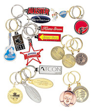 Custom made Overseas Die Struck KeyTags