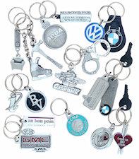 Custom Pewter Logo Key Chains