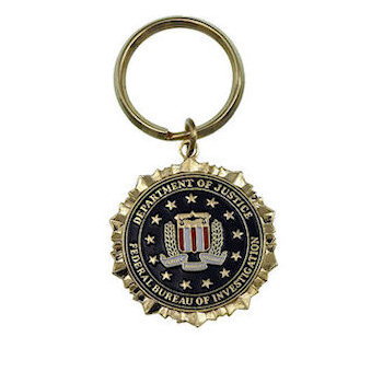 United States Department of Justice Key Tag