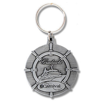 Graduate - Carnival Cruise Line Key Tag with Ship Wheel
