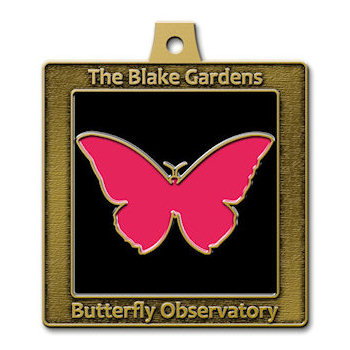 The Blake Gardens Butterfly Observatory with Pink Butterfly