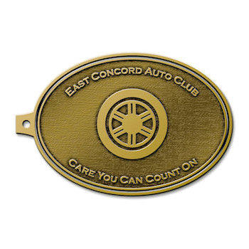 East Concord Auto Club Tag with motto - Care You Can Count On