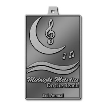 3rd Annual Midnight Melodies On The Beach Key Tag with Treble Clef and Musical Notes