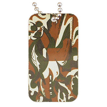 Camouflage Colored Key Tag