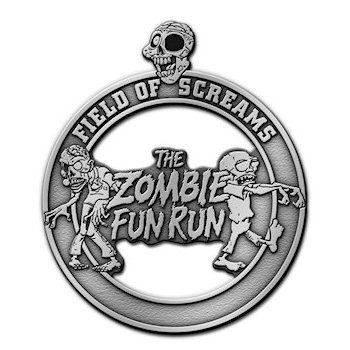 Field Of Screams -The Zombie Fun Run Medal