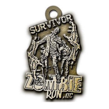 Zombie Run LLC Survivor Medal