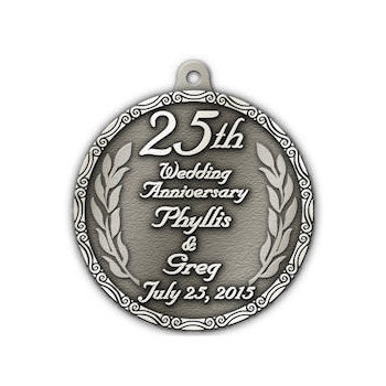 25th Wedding Anniversary Medal