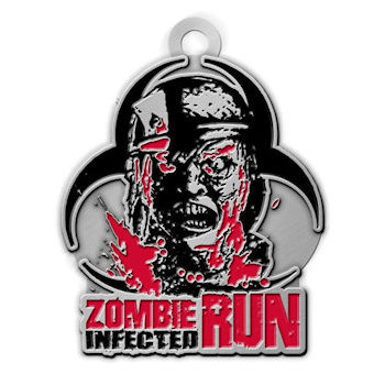 Zombie Infected Run Medal