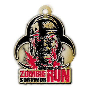 Zombie Survivor Run Medal