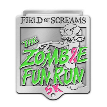 Field Of Screams Zombie 5K Run Medal