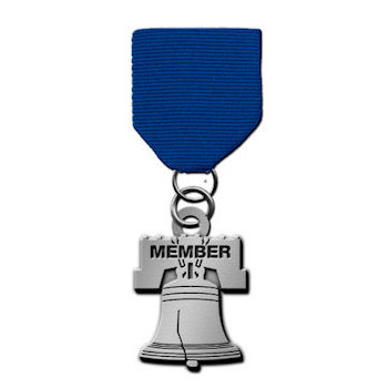 Liberty Bell Medal with Member text