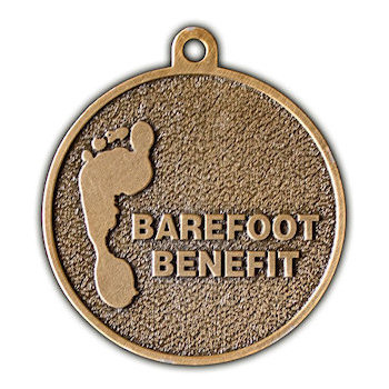 Barefoot Benefit Medal with Footprint