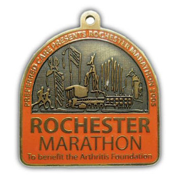 Marathon medal for Arthritis Foundation Charity