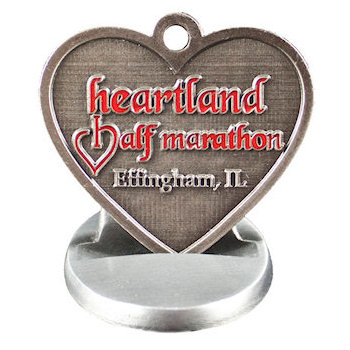 Heartland Half Marathon Medal with Stand