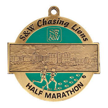 S&W Half Marathon Medal/Photo Etched
