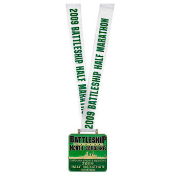 Half Marathon Medal with Straight Printed Ribbon/Laynard