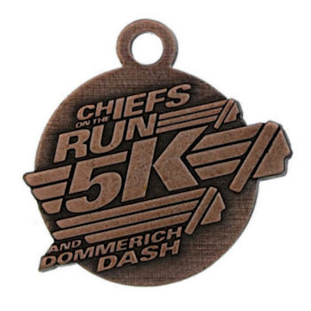 Chief On The Run 5K and Dash Medals/Drop Background