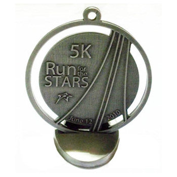 5K Run Medal with Metal Stand