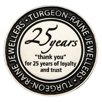 25 Years Loyalty Medal - Turgeon-Raine Jewellers