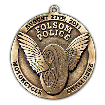 Folsom Police Motorcycle Challenge - wheel with wings