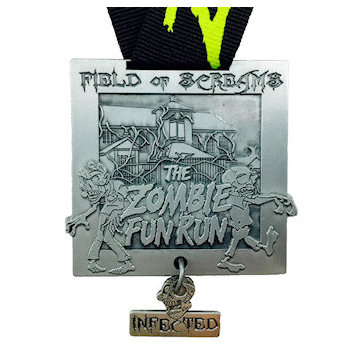 Field of Screams Medal - With detachable Pendant - Printed Ribbon