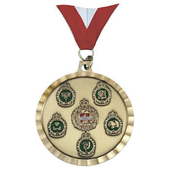 Die Struck Medal with Diamond Cut Border