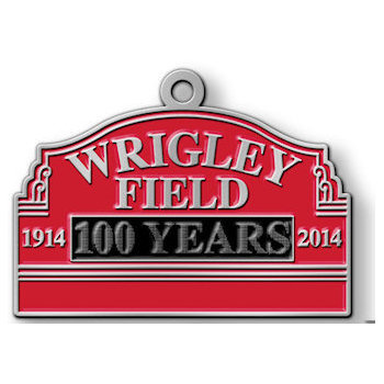 Baseball Park commemorative  100 Years Medal with Red Color Fill