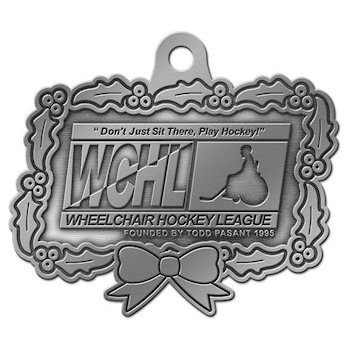 Wheelchair Hockey League Christmas Ornament