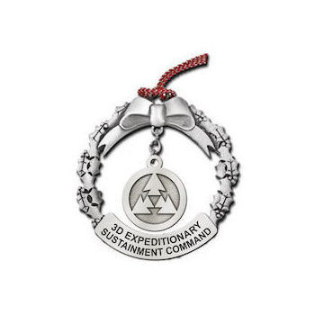 3D Expeditionary Sustainment Command Christmas Ornament