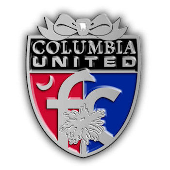 South Carolina Columbia United Youth Soccer Crest Ornament