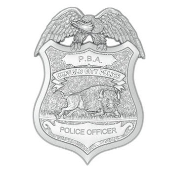 Buffalo City Police Officer Badge with Buffalo featured and Eagle with Wings outstretched over Badge