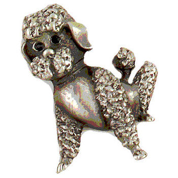 For all you dog loers a delicate poodle design lapel pin