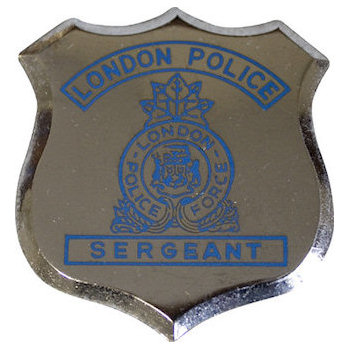 London Police Force Sergeant Badge