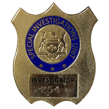 Special Investigations Police Badge