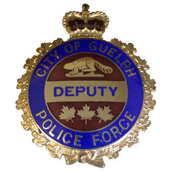 City of Guelph Deputy Police Force Badge with Beaver and Maple Leaves