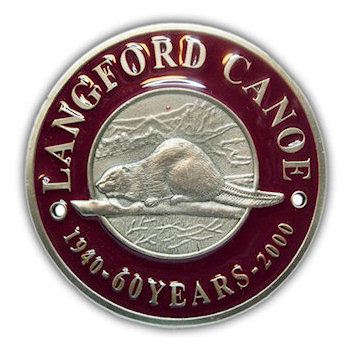 Langford Canoe - 1940 - 2000 - 60 Years - Beaver on a Tree Branch