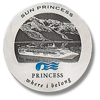 Round Princess Cruiseline Plaque