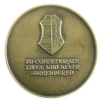 Shield and text of To Commemorate Those Who Never Surrendered