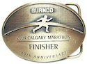 Custom marathon finisher buckle