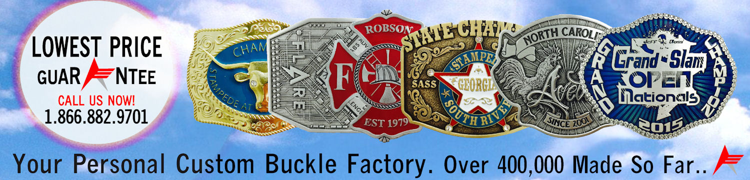 Your Personal Custom Belt Buckle Factory.  Over 400,000 Made So Far.