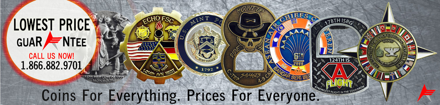 Ace Custom - We Make Custom Coins - Coins for Everything.  Prices for Everyone.