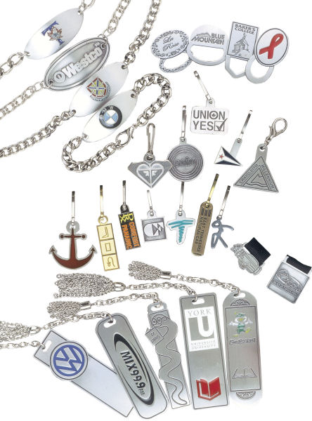 Custom Pewter Gifts and Desk Accessories - Bracelets and Bookmarks