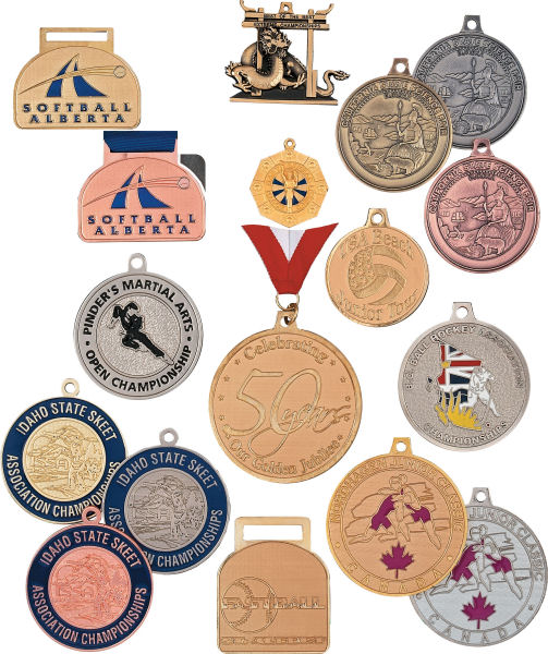 Custom Bright Medals - Made with your shape, color, style, logo, ribbons