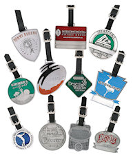 Custom Made Pewter Golf Bag Tags