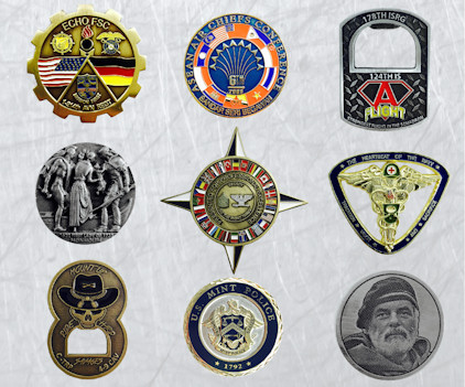 Custom Coins, Challenge Coins, Promotional Coins, Logo Coins - Your logo, colors and style